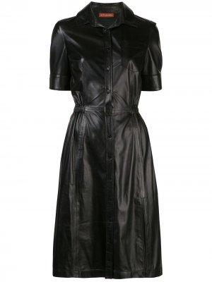 Платье-рубашка Kura Altuzarra. Цвет: черный