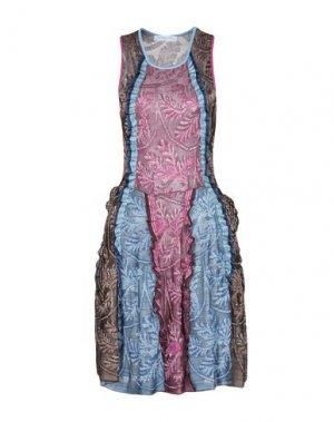 Платье до колена PARAKIAN. Цвет: пурпурный