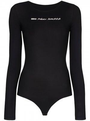 Боди с логотипом MM6 Maison Margiela. Цвет: черный