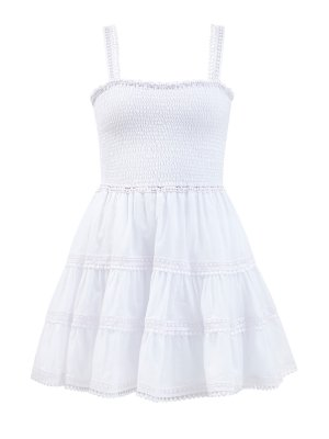 Легкое платье Stelle с эластичным лифом CHARO RUIZ IBIZA. Цвет: белый