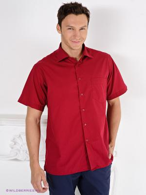 Рубашка Davani. Цвет: красный