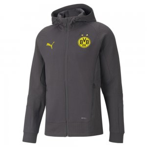 Толстовка BVB Casuals Hooded Mens Football Jacket PUMA. Цвет: серый