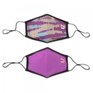 Маска II Face Mask 2-Pack PUMA. Цвет: фиолетовый