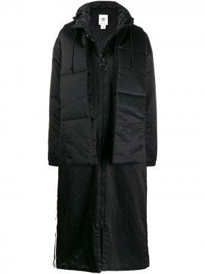 Куртка W LG PD adidas. Цвет: черный
