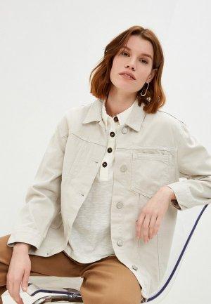 Куртка джинсовая Whistles. Цвет: бежевый