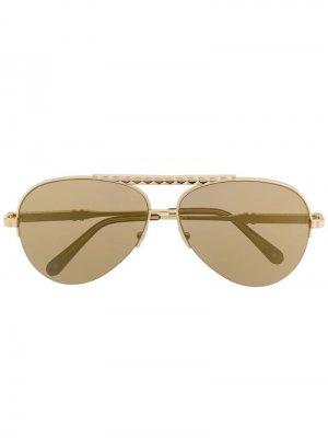 Солнцезащитные очки-авиаторы Philipp Plein. Цвет: золотистый