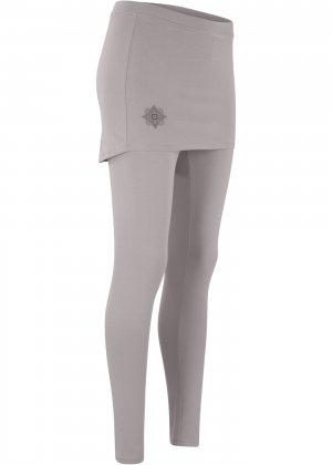 Легинсы спортивные с юбкой, Level 2 bonprix. Цвет: серый
