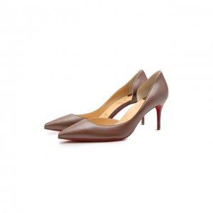 Кожаные туфли Iriza 70 Christian Louboutin. Цвет: коричневый