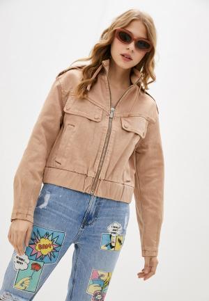 Куртка джинсовая Pimkie. Цвет: бежевый