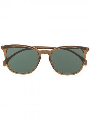 Солнцезащитные очки в круглой оправе Gucci Eyewear. Цвет: коричневый
