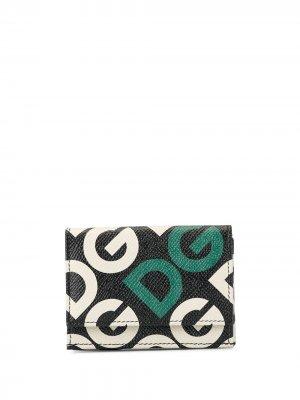 Бумажник с логотипом DG Dolce & Gabbana. Цвет: черный