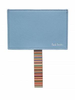 Картхолдер с логотипом PAUL SMITH. Цвет: синий