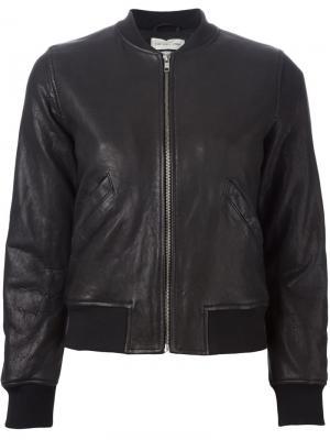 Куртка-бомбер Backal Isabel Marant Étoile. Цвет: чёрный