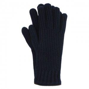Кашемировые перчатки Fedeli. Цвет: синий