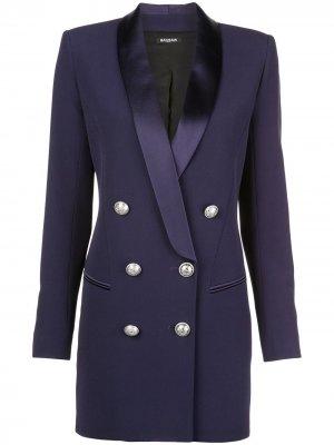 Структурированное платье-блейзер Balmain. Цвет: фиолетовый