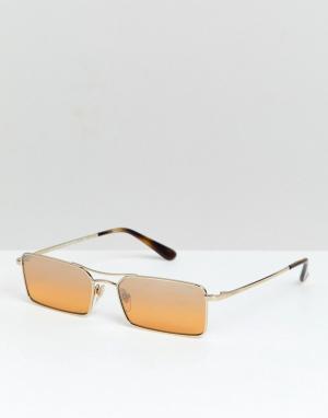 Солнцезащитные очки в узкой прямоугольной оправе Vogue x Gigi-Желтый