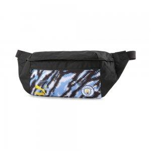 Сумка на пояс Man City Iconic Street Football Waist Bag PUMA. Цвет: черный