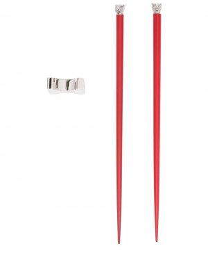 Палочки для еды Tiger Chinese Zodiac Shanghai Tang. Цвет: красный