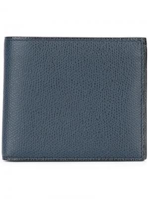 Фактурный бумажник Valextra. Цвет: синий