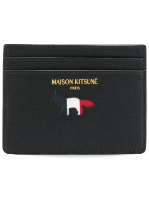 Футляр для карт с логотипом Maison Kitsuné. Цвет: черный