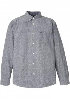 Рубашка с длинным рукавом bonprix. Цвет: черный