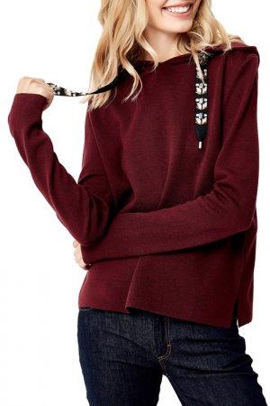 Пуловер MANODE. Цвет: burgundy