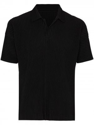 Плиссированная рубашка поло Homme Plissé Issey Miyake. Цвет: черный
