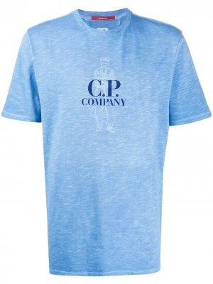 Футболка с принтом C.P. Company. Цвет: синий