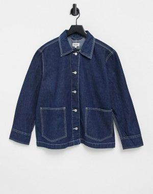 Синяя джинсовая куртка Dual-Голубой Weekday