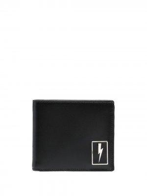 Бумажник с принтом Thunderbolt Neil Barrett. Цвет: черный