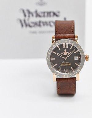 Часы с коричневым ремешком -Коричневый Vivienne Westwood