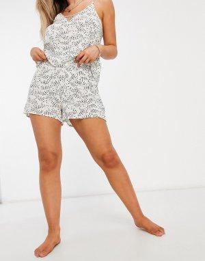 Эксклюзивные белые пляжные шорты в черный горошек -Мульти Iisla & Bird
