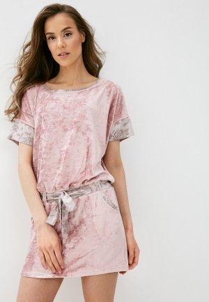 Платье домашнее Блисс. Цвет: розовый