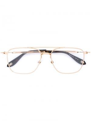 Очки с квадратной оправой Givenchy. Цвет: коричневый