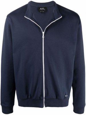 Куртка с нашивкой-логотипом A.P.C.. Цвет: синий