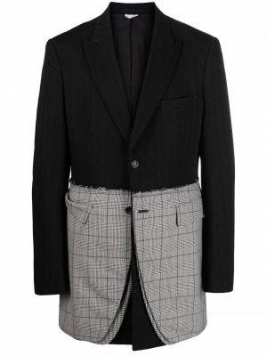 Пиджак оверсайз со вставками Comme Des Garçons Homme Plus. Цвет: черный