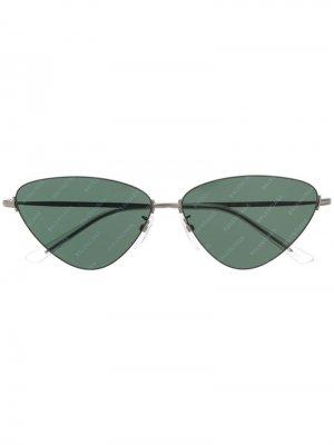 Солнцезащитные очки Invisible Cat Balenciaga Eyewear. Цвет: серебристый