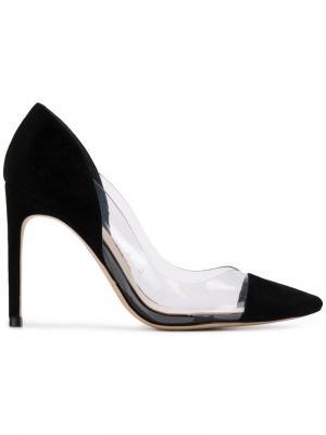 Туфли-лодочки с прозрачными панелями Sophia Webster. Цвет: черный