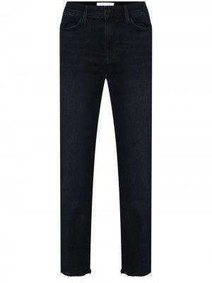 Прямые джинсы с завышенной талией FRAME. Цвет: синий