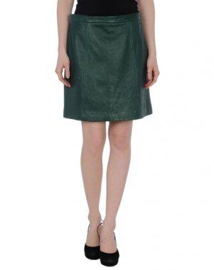 Кожаная юбка DKNY. Цвет: зеленый