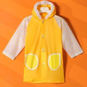 Детский дождевик в горошек SHEIN. Цвет: жёлтые