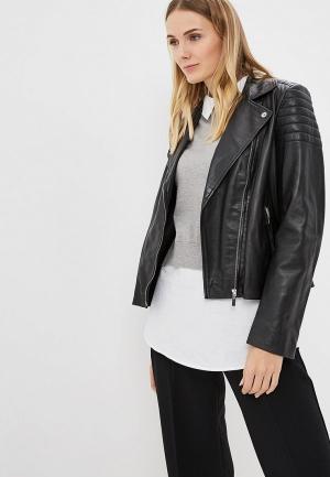 Куртка кожаная Arma Leslie. Цвет: черный