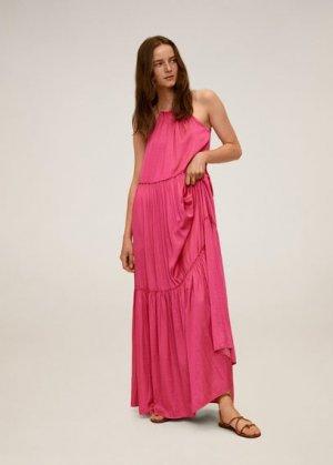 Длинное платье-клеш - Lusita Mango. Цвет: фуксия