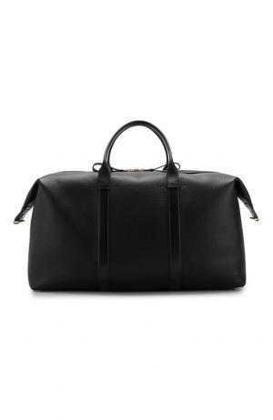 Кожаная дорожная сумка с плечевым ремнем Tom Ford. Цвет: чёрный