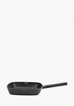 Сковорода Taller -гриль, ВИРТУОЗО, d 28 см. Цвет: черный
