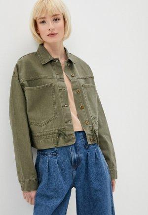 Куртка джинсовая Befree. Цвет: хаки