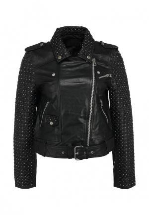 Куртка кожаная French Connection. Цвет: черный