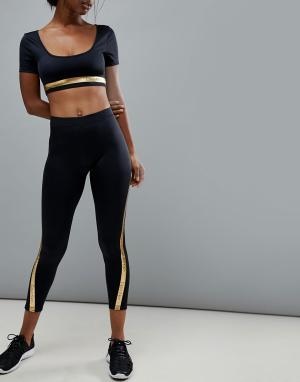 Пляжные леггинсы Calvin Klein. Цвет: черный