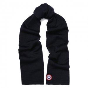 Шерстяной шарф Canada Goose. Цвет: синий