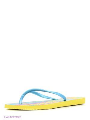Шлепанцы DUPE. Цвет: желтый